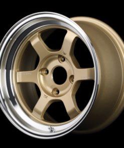 RAYS Volk Racing TE37V MC -  Gold/Diamond Cut Rim