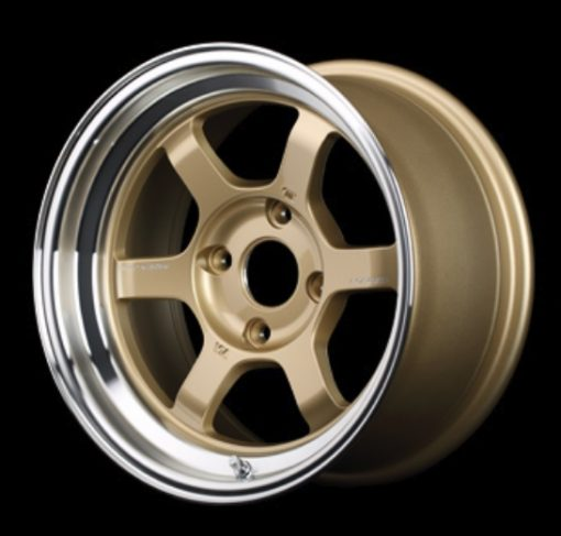 RAYS Volk Racing TE37V MC -  Gold/Diamond Cut Rim